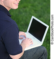 Business man with laptop 3