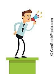 business man with megaphone icon