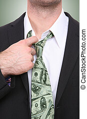 Business Man with Money Tie