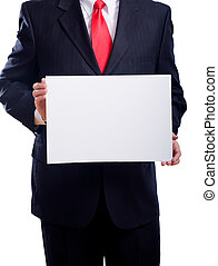 Business Man with Sign