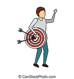 business man with strategy target