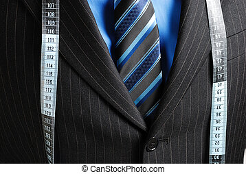Business man with tape me - This is an image of business man...
