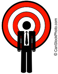 business man with target as a head