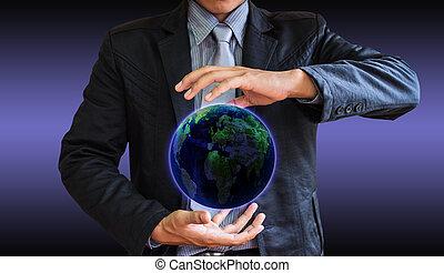 business man world