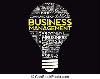 Business Management bulb