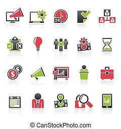 Business management concept icons