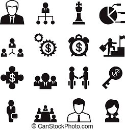 Business Management & Human resource icons set