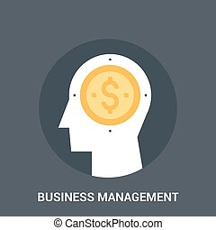 business management icon concept