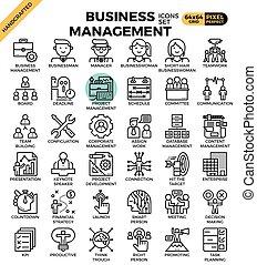 Business management icons - Business management concept...