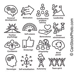 Business management icons in line style. Pack 16. - Business...