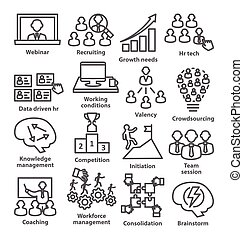 Business management icons in line style. Pack 30. - Business...