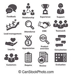 Business management icons. Pack 03. - Business management ...