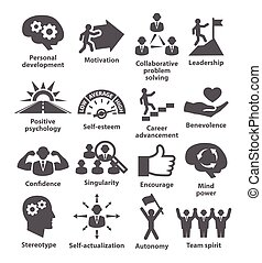 Business management icons. Pack 16. - Business management...