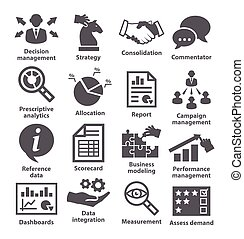 Business management icons. Pack 18. - Business management...