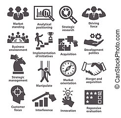Business management icons. Pack 27. - Business management ...