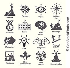 Business management icons Pack 41 Icons for leadership,...