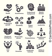 Business management icons Pack 46 Icons for leadership,...