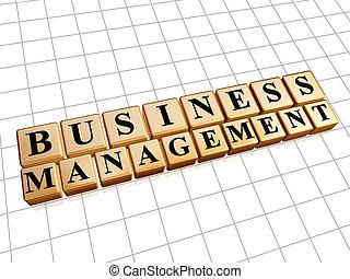 business management in golden cubes