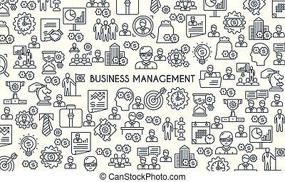 Business management line banner