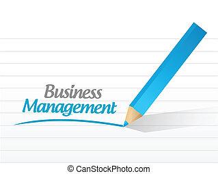 business management sign illustration design over a white ...