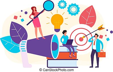 Business management teamwork concept. Vector flat graphic design illustration