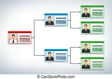 Business management tree template - Business presentation...
