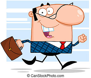 Business Manager Running To Work