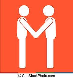 Business Mans Handshake Icon Illustration design