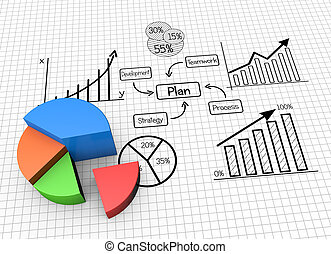Business marketing - Concept image planning, finances and ...