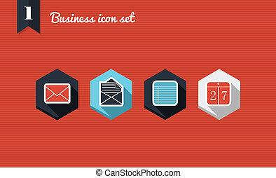 Business marketing flat icons set