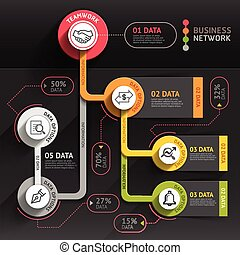 Business marketing infographic