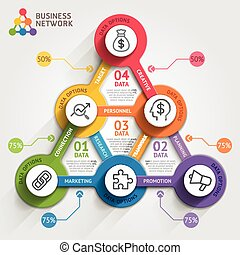 Business marketing infographic template. Vector illustration. Can be used for workflow layout, banner, diagram, number options, web design, timeline elements.