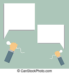 Business marketing promotion illust