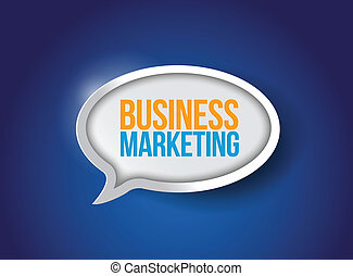 Business marketing speech bubble
