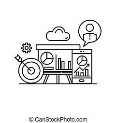 business marketing turover presentation, financial statistic graph