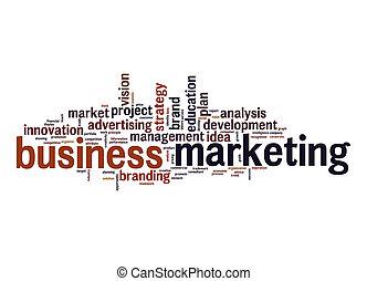 Business marketing word cloud