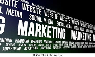 Business Marketing Words Scrolling