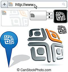 Business maze abstract logo design. - Business maze vector...