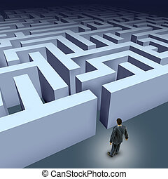 Business maze challenge - Business challenges represented by...