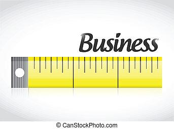business measure concept illustration design
