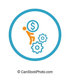 Business Mechanics Icon. Flat Design.