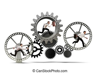 Business mechanism system with running business team