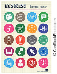 Business media social network icons
