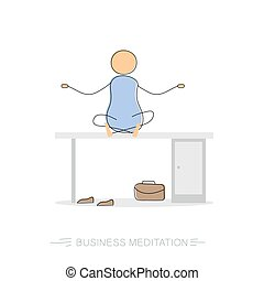 Business meditation - drawing man