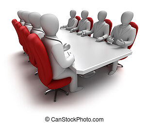 Business meeting 3D concept