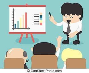 Business meeting, brainstorming