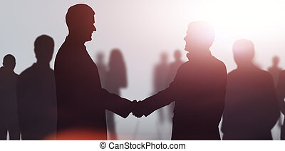 Business meeting. Business people shaking hands