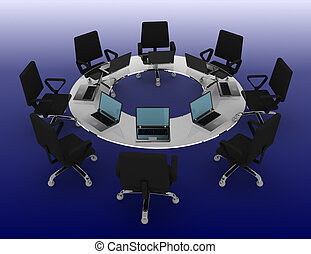 business meeting concept . 3d rendered illustration