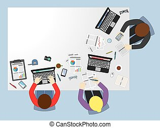 Business meeting flat illustration concept