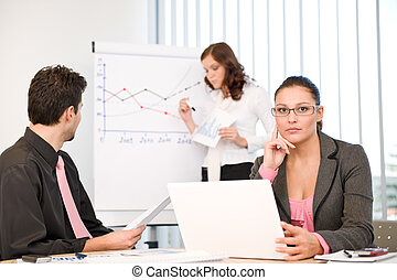 Business meeting - group of people in office